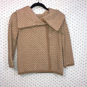 Banana Republic Tan & Cream Cardigan Sweater